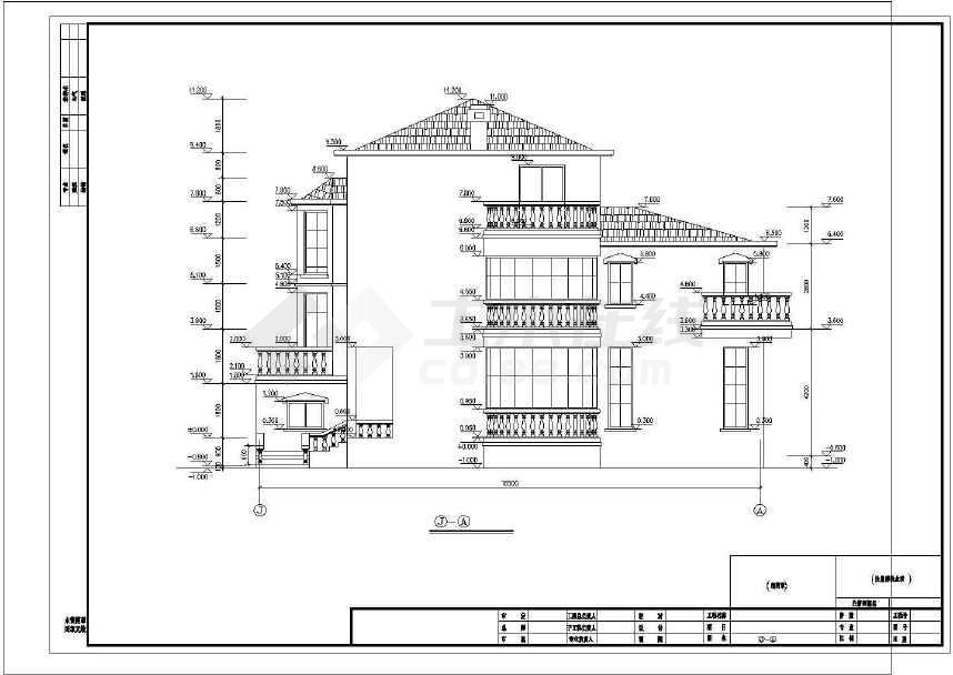 点击查看完整的一套豪华公馆式别墅施工图第1张大图