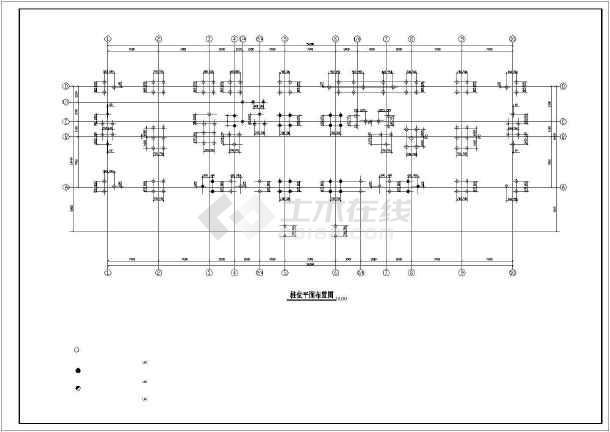 点击查看某地检察院建筑结构施工CAD图第1张大图