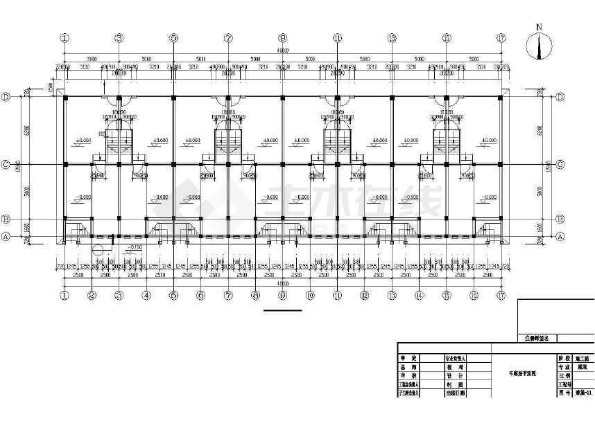 某地一套完整的村民安置住宅建筑施工图-图3