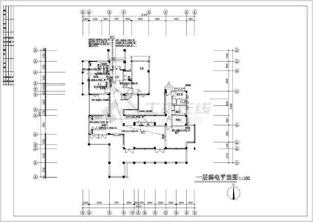 点击查看某新式别墅电气设计图CAD图纸第1张大图