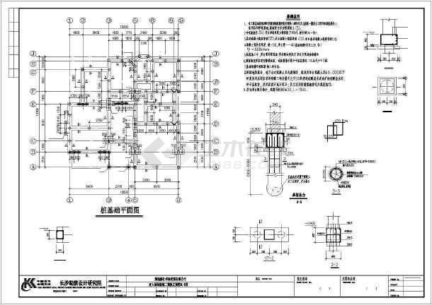 某独立欧式别墅建筑结构图纸-图2