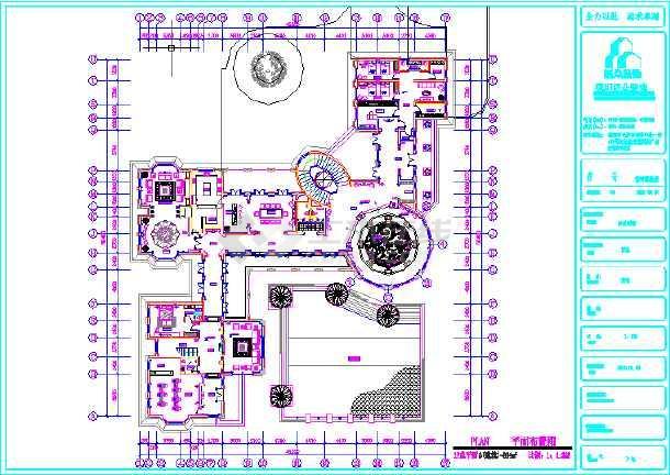 点击查看某3层别墅平面布置图第1张大图