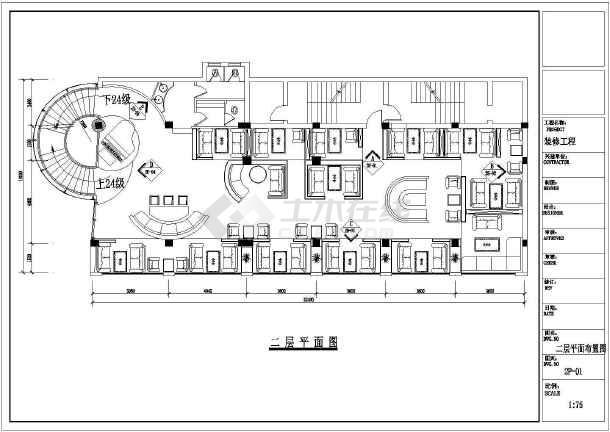 东方威尼斯咖啡厅装修设计施工图-图2