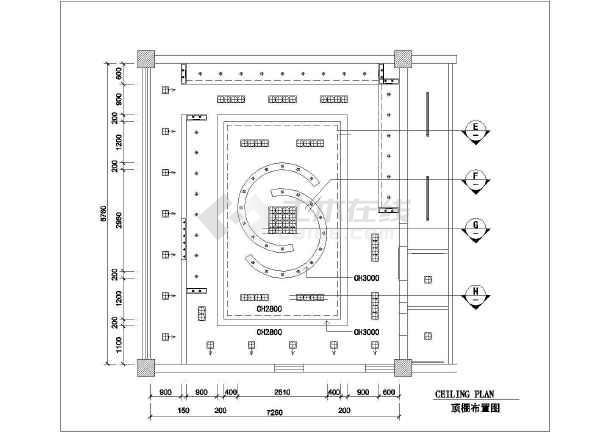 高档服装店全套装修设计施工图-图二