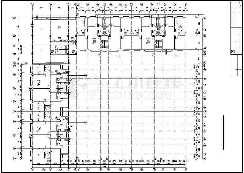 某地多层住宅楼建筑设计图-图2