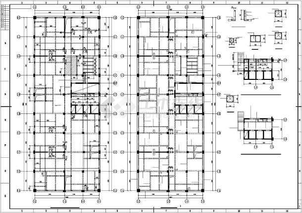 某框架剪力墙大厦结构设计图-图1