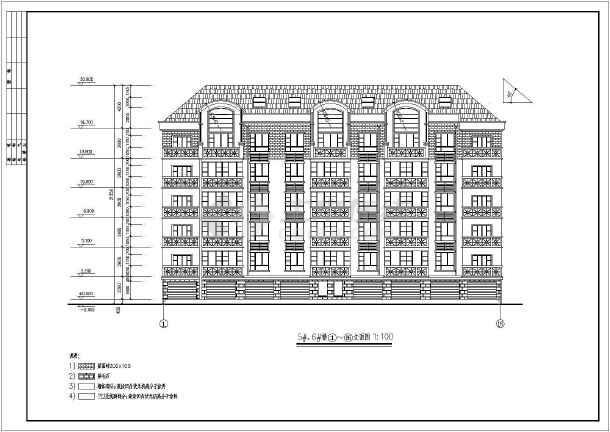某六层住宅小建筑施工设计CAD图-图1