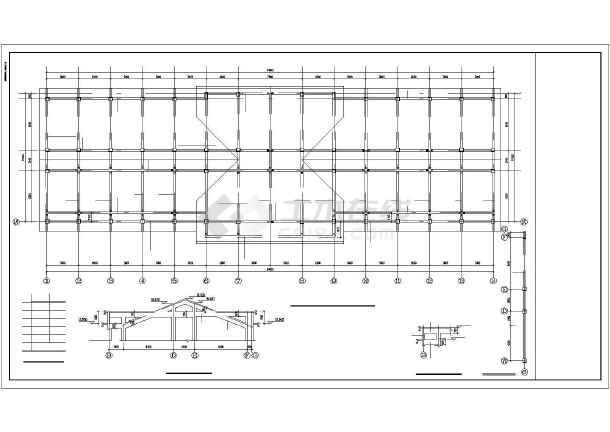 某四层框架实验楼结构设计图-图1