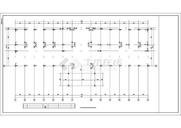 某四层框架实验楼结构设计图-图3