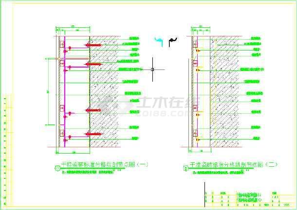 瓷砖干挂节点详图-图2