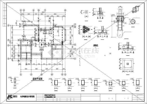 独特风格别墅建筑结构图纸-图1