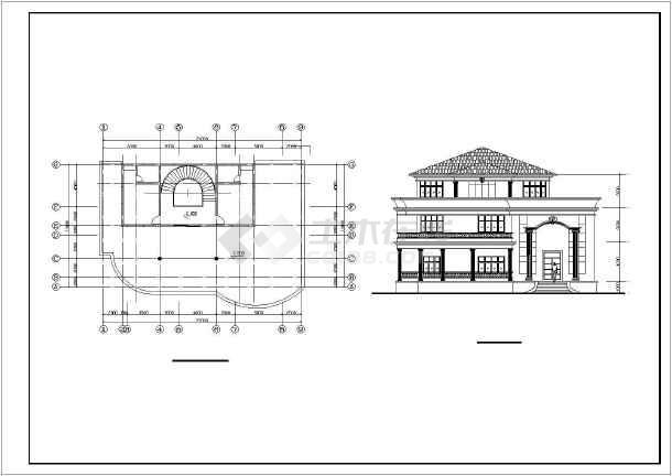 12个别墅建筑设计方案图纸-图1