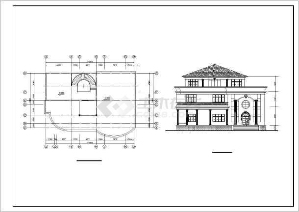 12个别墅建筑设计方案图纸-图2