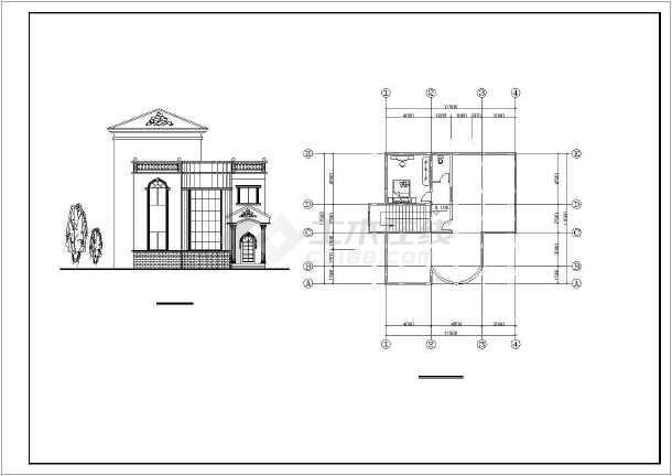 12个别墅建筑设计方案图纸-图3