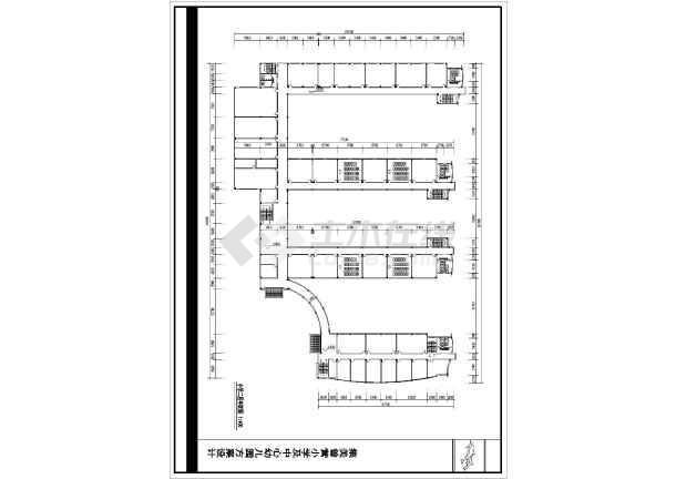 某地小学建筑设计平面图(共6张)-图一