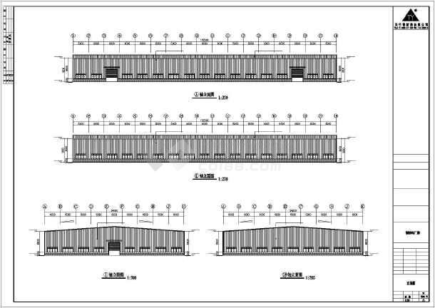 某公司轻钢厂房建筑结构CAD图纸-图一