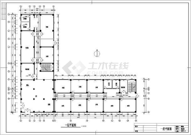 杭州某六层小型办公楼建筑方案cad设计图纸-图二