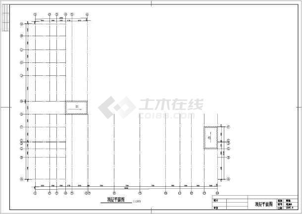 杭州某六层小型办公楼建筑方案cad设计图纸-图3