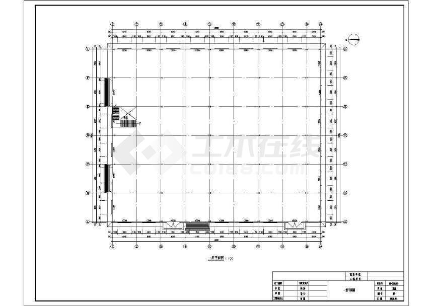 点击查看某门式刚架带夹层结构二层厂房建筑结构施工图第1张大图