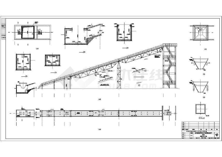 某地输送廊道钢结构施工图纸-图2