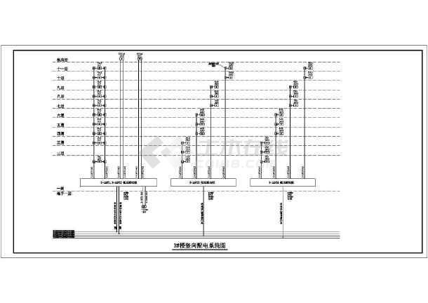 [浙江]写字楼带地下室人防车库电气施工图-图2
