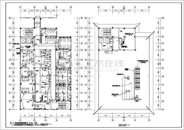 [河南]中医院综合病房楼电气全套施工图-图2