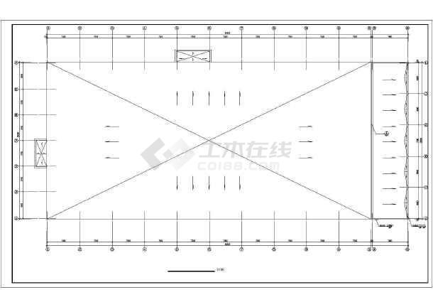 某地海珍品养殖大棚结构cad建筑施工图纸-图2
