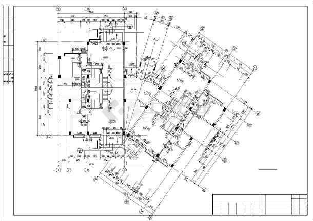 广州某复式公寓建筑扩出cad施工图-图1