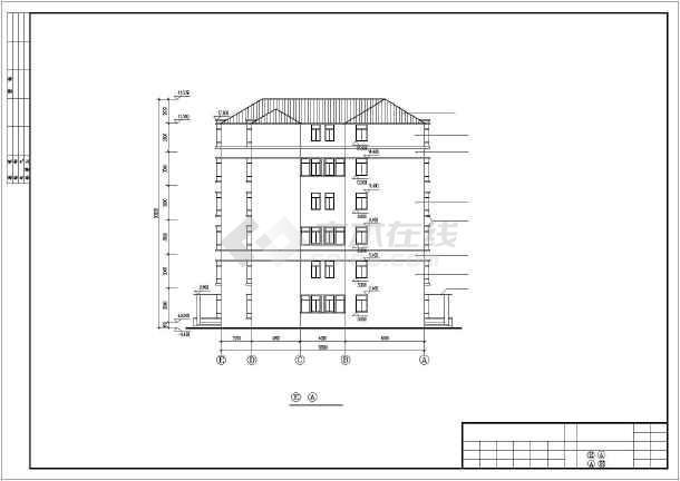 广州某复式公寓建筑扩出cad施工图-图3
