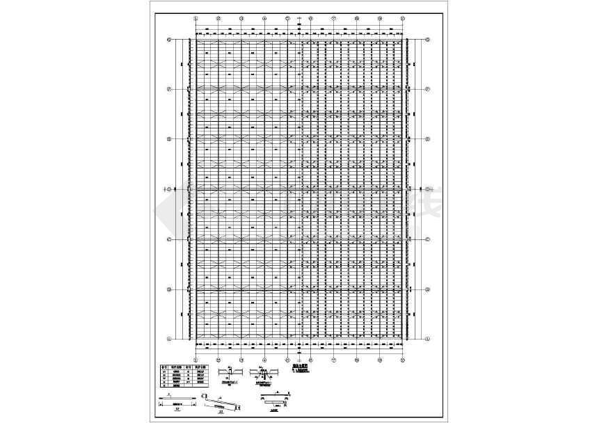 点击查看某地工业园门式钢架厂房结构施工图第1张大图