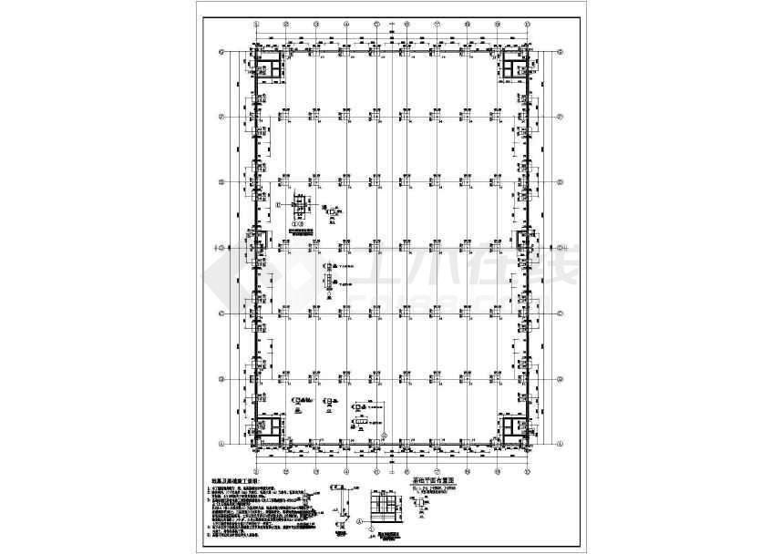 某地工业园门式钢架厂房结构施工图-图1