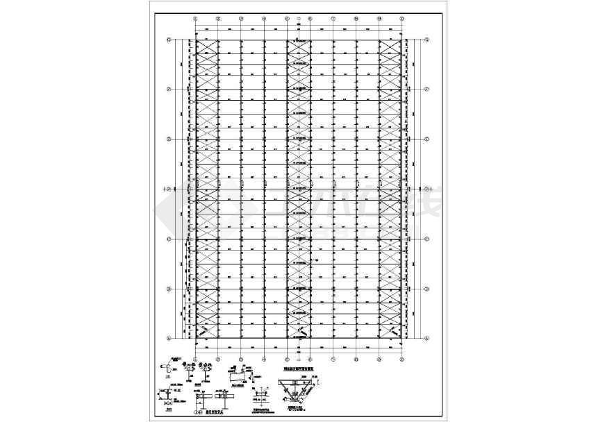 某地工业园门式钢架厂房结构施工图-图2