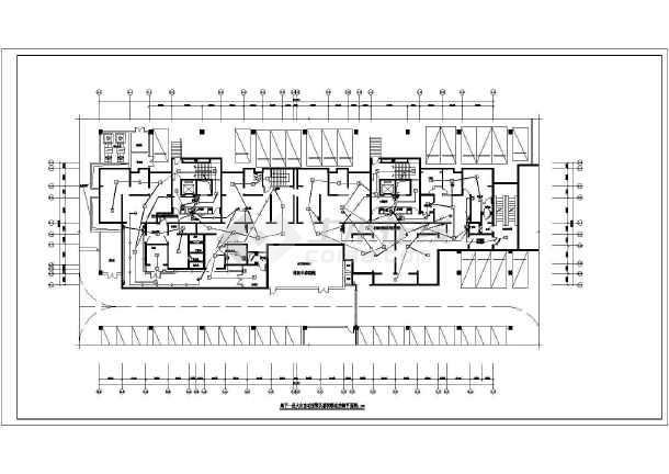 [陕西]高层住宅带人防电气施工图-图3