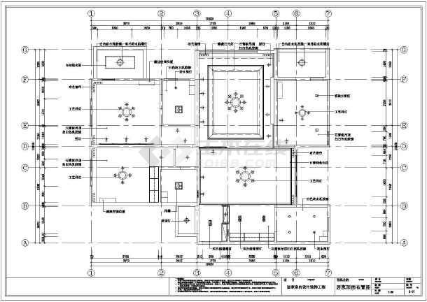 混搭三居室装修设计施工图-图2