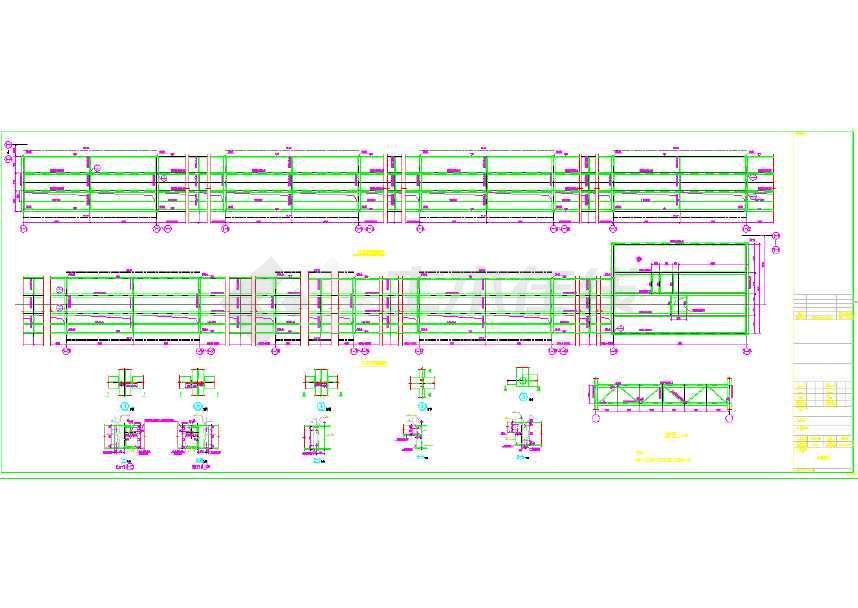 某35m格钢结构式门式刚架设计图-图3