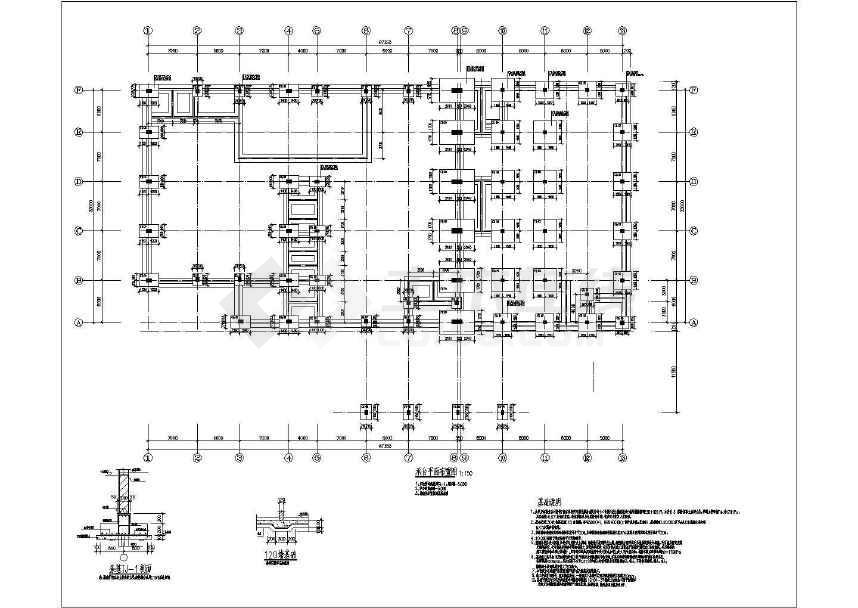 多跨门式钢架厂房结构施工图-图1