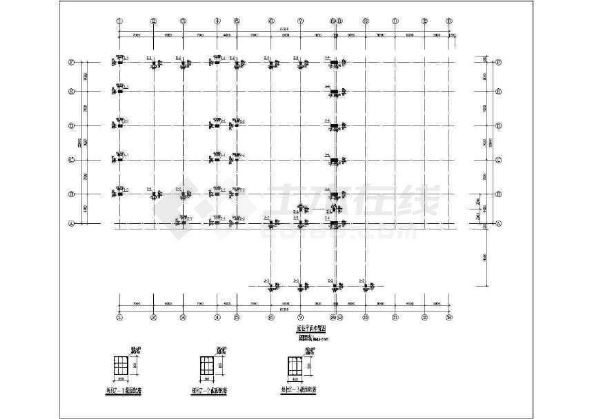 多跨门式钢架厂房结构施工图-图2