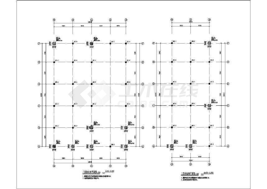 多跨门式钢架厂房结构施工图-图3