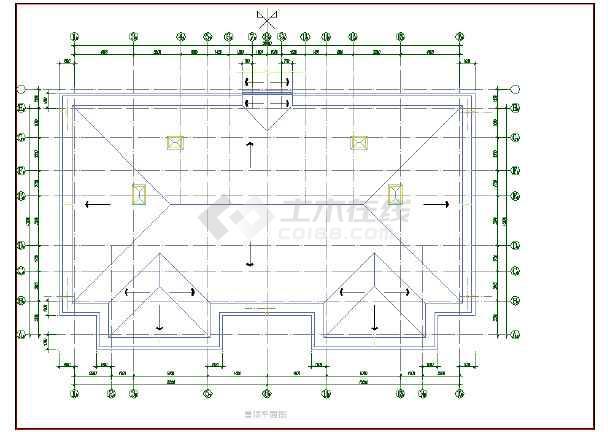 某酒店式公寓楼建筑设计cad方案图纸-图1