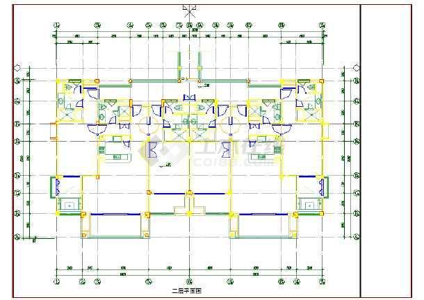 某酒店式公寓楼建筑设计cad方案图纸-图2