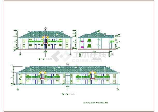 某酒店式公寓楼建筑设计cad方案图纸-图3