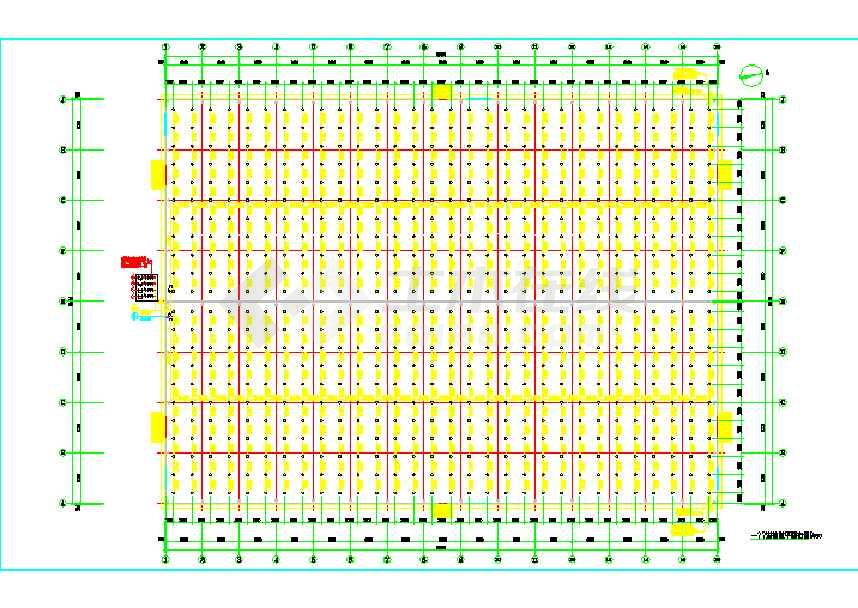 点击查看90X66钢结构仓库(建筑、结构、电气、给排水)第1张大图