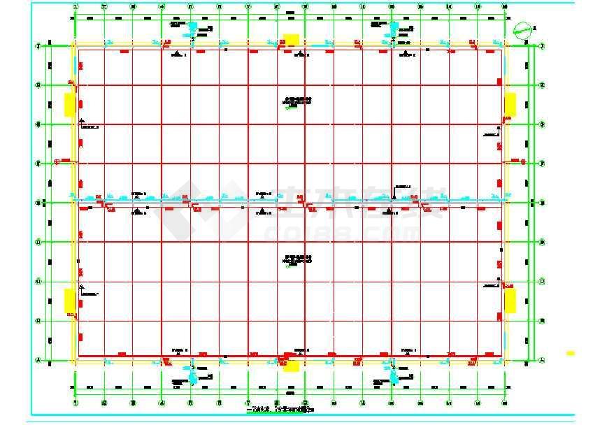 90X66钢结构仓库(建筑、结构、电气、给排水)-图2