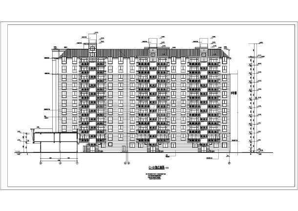 点击查看某地高层住宅楼全套建筑设计图(共19张)第1张大图