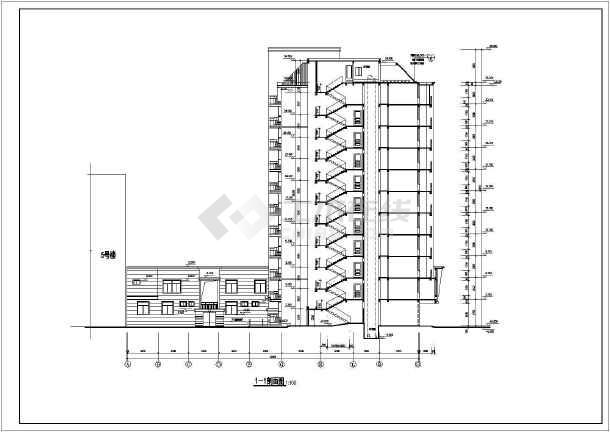 某地高层住宅楼全套建筑设计图(共19张)-图1