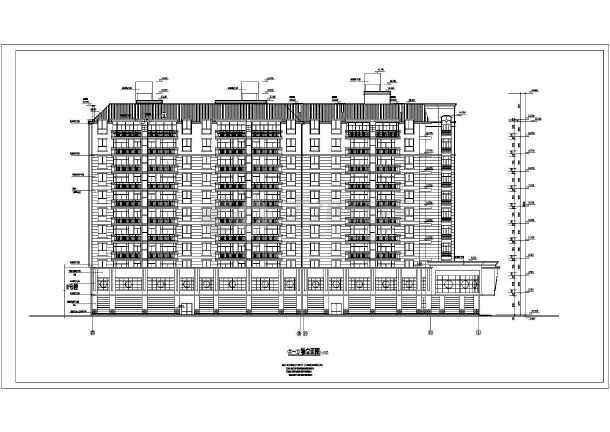 某地高层住宅楼全套建筑设计图(共19张)-图2