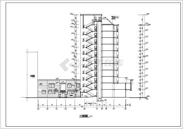 某地高层住宅楼全套建筑设计图(共19张)-图3