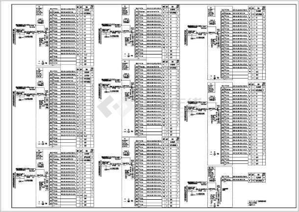 [安徽]82米高层公共建筑强弱电竣工图(加压送风机排污水泵)-图1