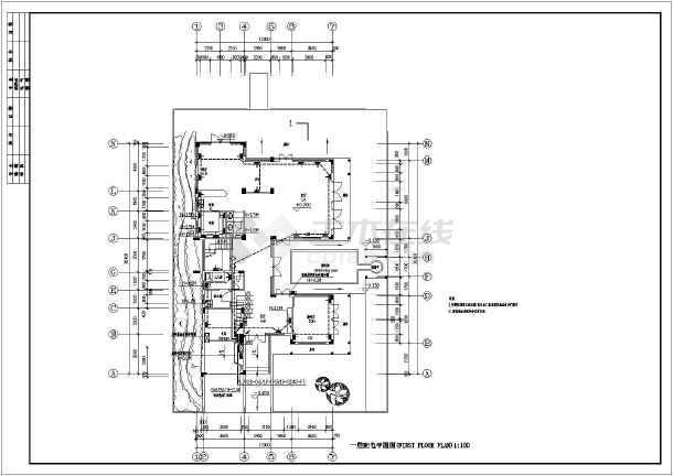某水景别墅电气图纸全集-图2