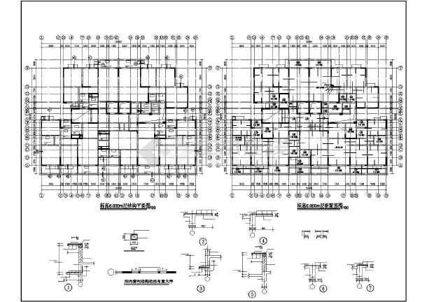 某框剪办公楼结构设计图-图1